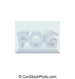 Fog icon in cartoon style