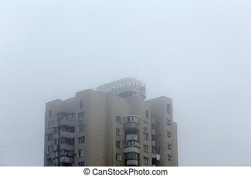 Fog in the city.