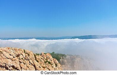 fog in the mountains of Crimea