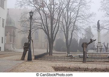 Fog in town