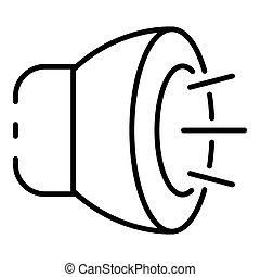 Fog light icon, outline style