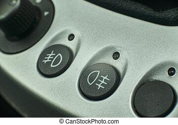 Fog lights symbol of a car