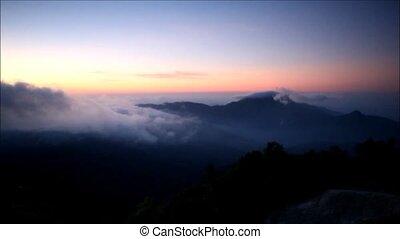 fog - Mountain in Fog at Doi Inthanon, Chiang Mai, Thailand