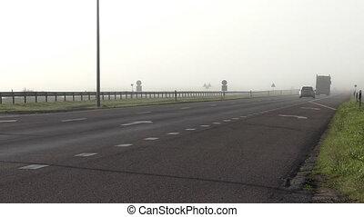 Fog on motorway