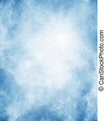 Fog on textured paper background - Fog on a vintage,...
