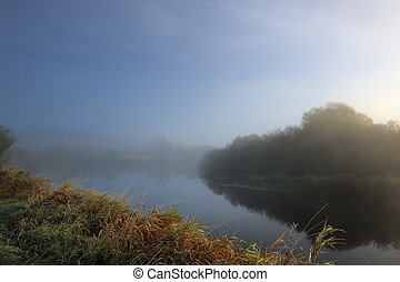 Fog over River in the Morning