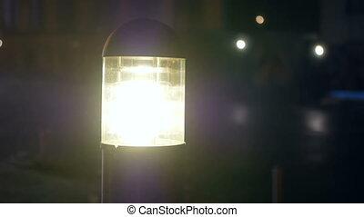 Fog street lanterns car - Nightlife fog street lanterns cars