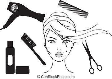 fogadószoba, frizura