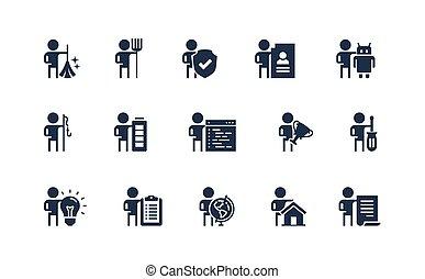 fogadalmak, elfoglaltságok, foglalkozás, állhatatos, emberek...