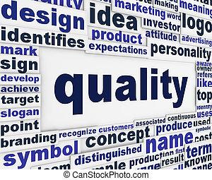 fogalmi, poszter, tervezés, minőség
