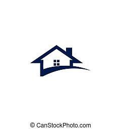 fogalom, épület, elvont, ábra, tervezés, sablon, swoosh, jel