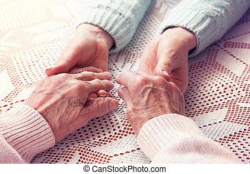 fogalom, öreg, woman., hely, emberek, szöveg, elderly., öregedő, disabled., -eik, nő, egészség, háttér., otthon, fehér, caregiver, home., senior törődik