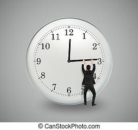 fogalom, abbahagy, idő, határidő, üzletember, fárasztó