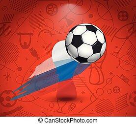 fogalom, futball, vektor, csésze