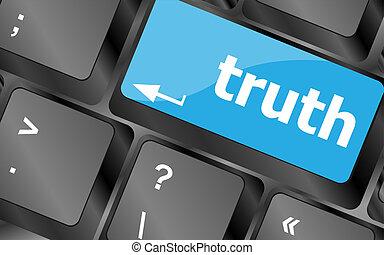 fogalom, igazság, ügy, -, kulcs, billentyűzet