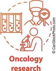 fogalom, ikon, oncology, kutatás