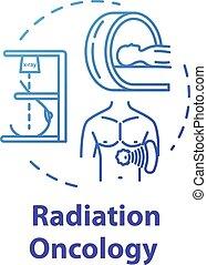 fogalom, ikon, sugárzás, oncology