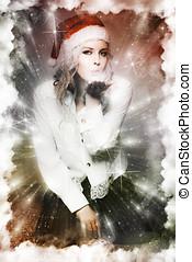 fogalom, művészet, köszönés, bírság, karácsony, kártya