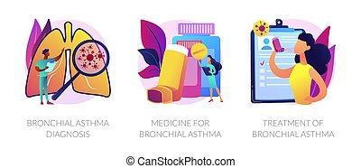 fogalom, metaphors., asztma, vektor