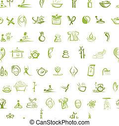 fogalom, motívum, seamless, tervezés, ásványvízforrás, -e,...