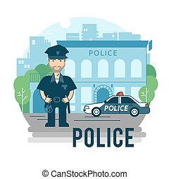 fogalom, rendőr, -ban, work.