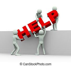 fogalom, segítség, emberek, eltart, -, 3