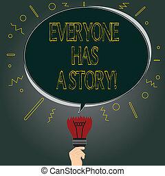 fogalom, storytelling, szín, szöveg, gondolat, everyone, tiszta, ovális, story., emlékezőtehetség, tales, -e, megbukott, beszéd, felül, kap, buborék, törött, jelentés, háttér, sokatmondó, gumó, kézírás, icon.