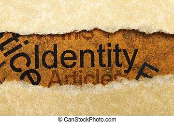 fogalom, személyazonosság