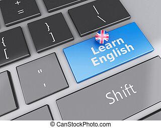 fogalom, tanul, számítógép, angol, keyboard., oktatás, 3