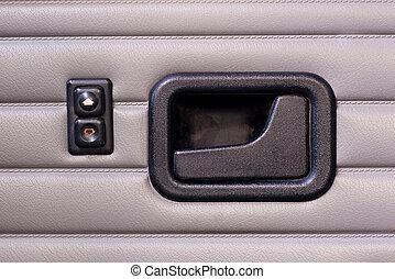 fogantyú, autó, gombok, ablak, retro, ajtó