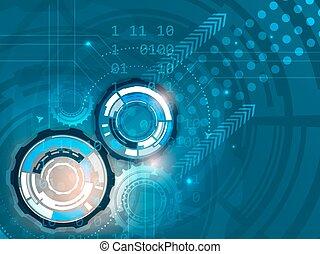 fogaskerék-áttétel, képben látható, elvont, vektor, háttér