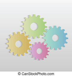 fogaskerék-áttétel, színes