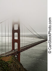 Foggy Golden Gate Bridge, San Fran
