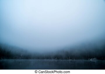 Foggy Lake background