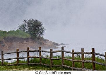 Foggy Morning on the Summer Lake
