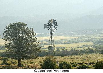 Foggy Morning Windmill