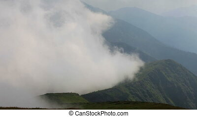 foggy mountain landscape. nature. 1