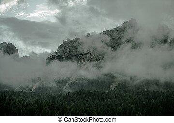 Foggy Mountain Range