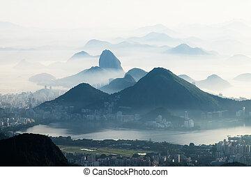 Foggy Mountains, Rio de Janeiro, Brazil