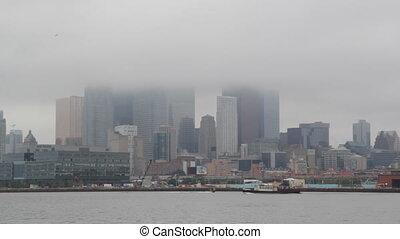 Foggy Toronto.