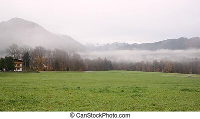 Foggy weather Berchtesgaden - Foggy weather in mountain...