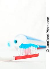 fogkefe, fogkrém, cső, piros, Következő