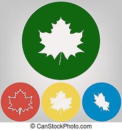 Acero foglia canadese pictogram foglia pictogram - Foglia canadese contorno foglia canadese ...