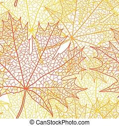 foglia, bacground, macro, autunno, vettore, maple.