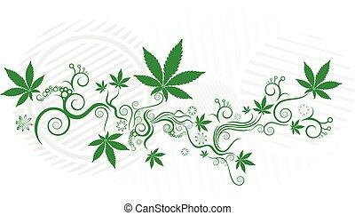 foglia canapa, marijuana, struttura