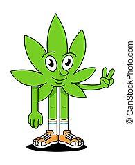 foglia canapa, naturale, marijuana