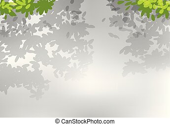 foglia, fondo, natura