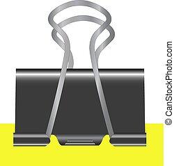 foglia, isolato, giallo, rilegatore, vettore, nero, illustrazione, fondo, bianco
