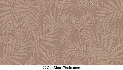 foglia marrone, modello, tropicale, fondo., poster/template.
