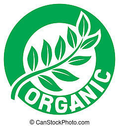 foglia, organico, segno, (seal, symbol)